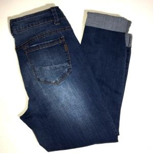 1822 Demin Jeans Size 8 Cropped Medium Wash